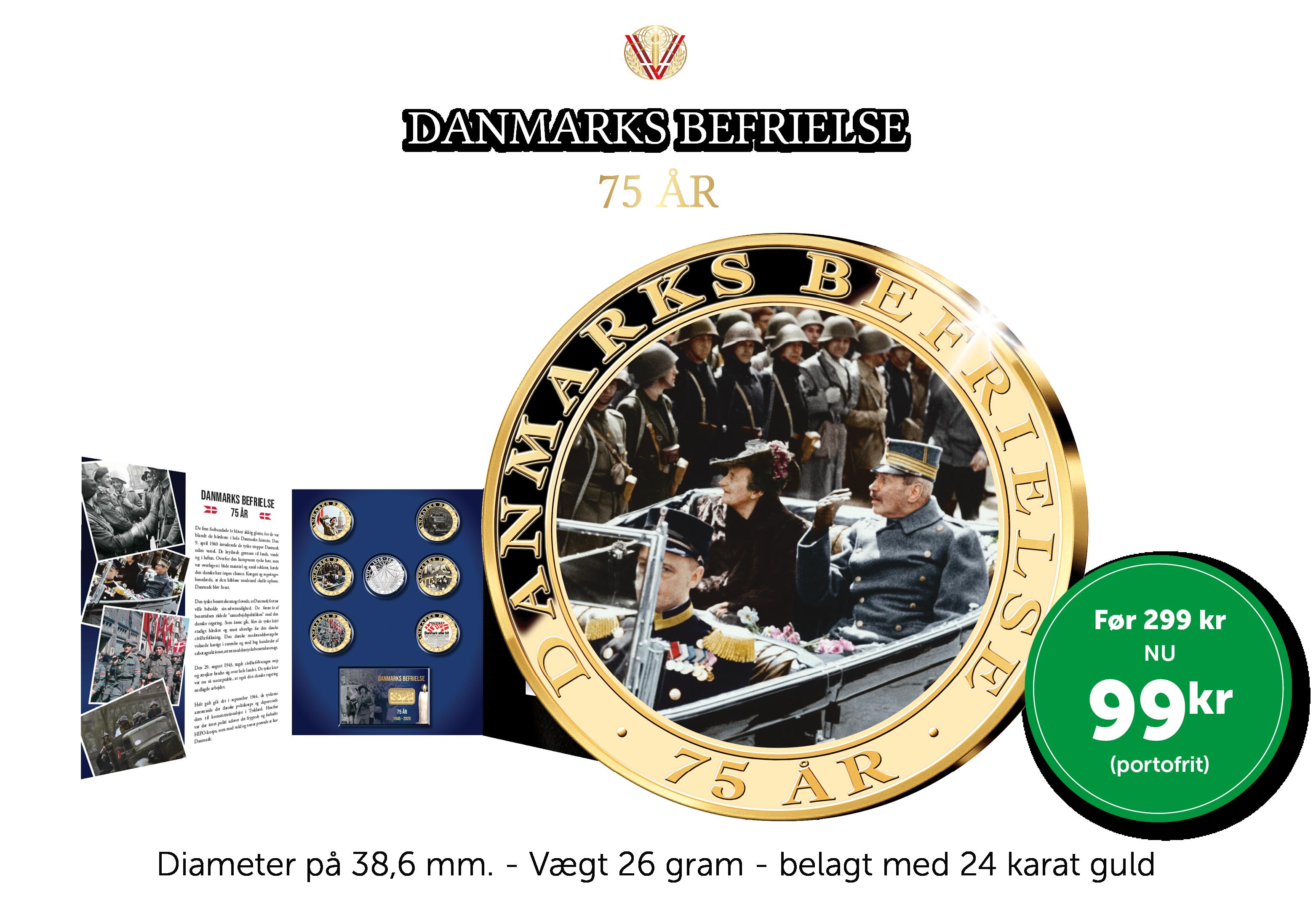 Danmarks Befrielse 75 år - Løbende samling. Opsig, når du vil