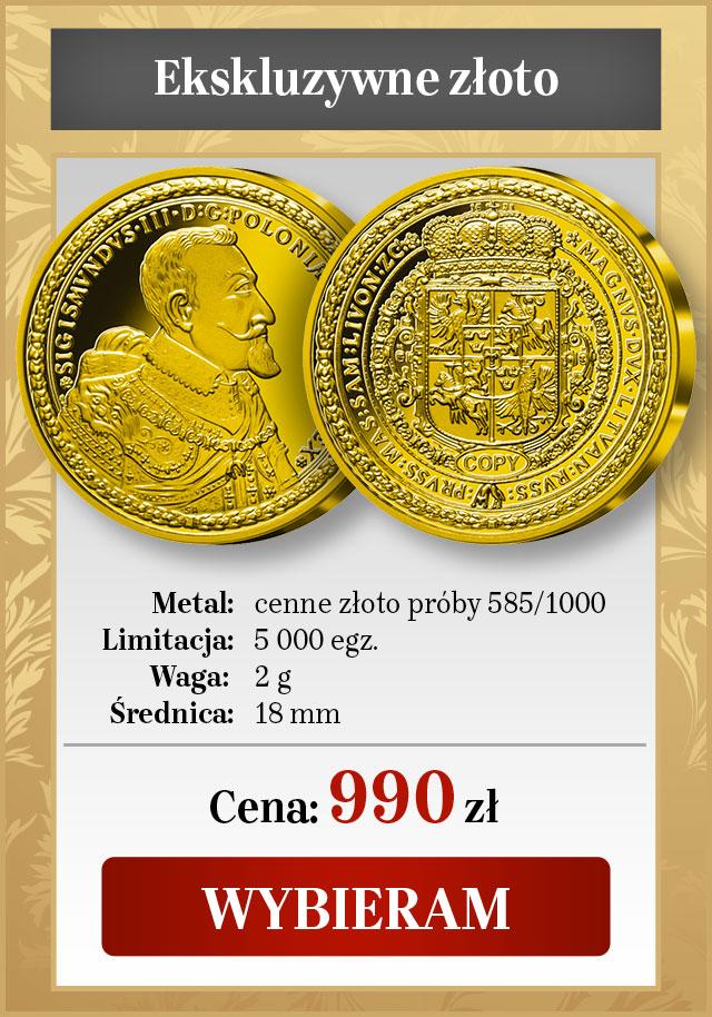 Najdroższa moneta Polski i Europy. Ściśle limitowana replika z cennego złota.