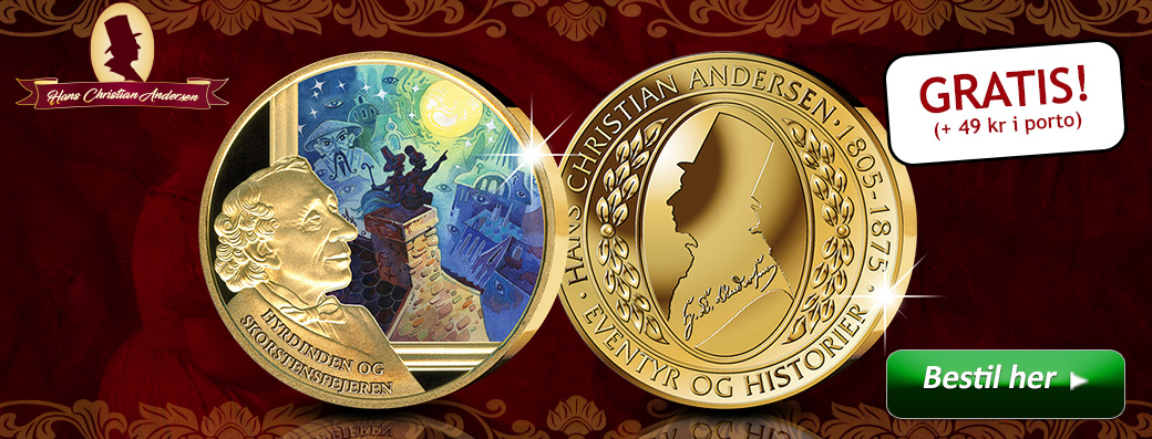 Bestil din gratis H.C. Andersen medalje