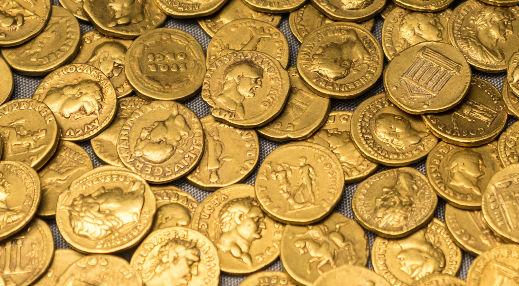 Romerske guldmønter fundet
