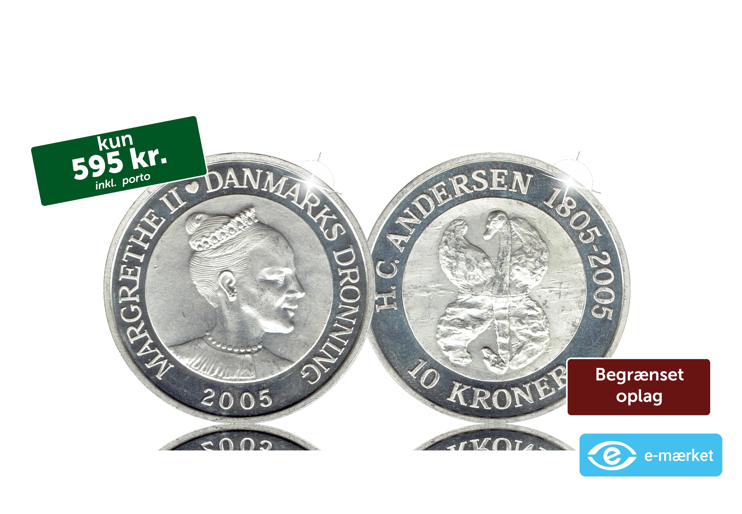 En mønt i 99,9 % sølv - H. C. Andersens Den grimme ælling