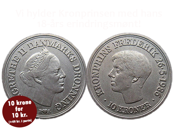 HkH Kronprins Frederik fylder 50 år i år!