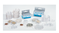 Pakke med 100 runde møntkapsler - 21,5 mm