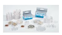 Pakke med 100 runde møntkapsler - 34 mm