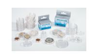 Pakke med 100 runde møntkapsler - 17 mm