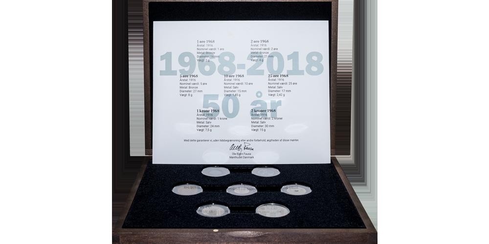 7 cirkulationsmønter fra 1968
