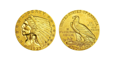 2,5 $ Gold Indian Head 1908-1929