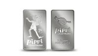 Eksklusiv møntbar i 99,9% sølv på 2,5 g. Udgivet i forbindelse med Pippis 75-års fødselsdag.