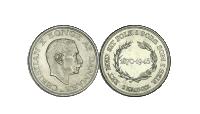 Christian X 2-krone - Dansk erindringsmønt i 80% sølv fra 1945.