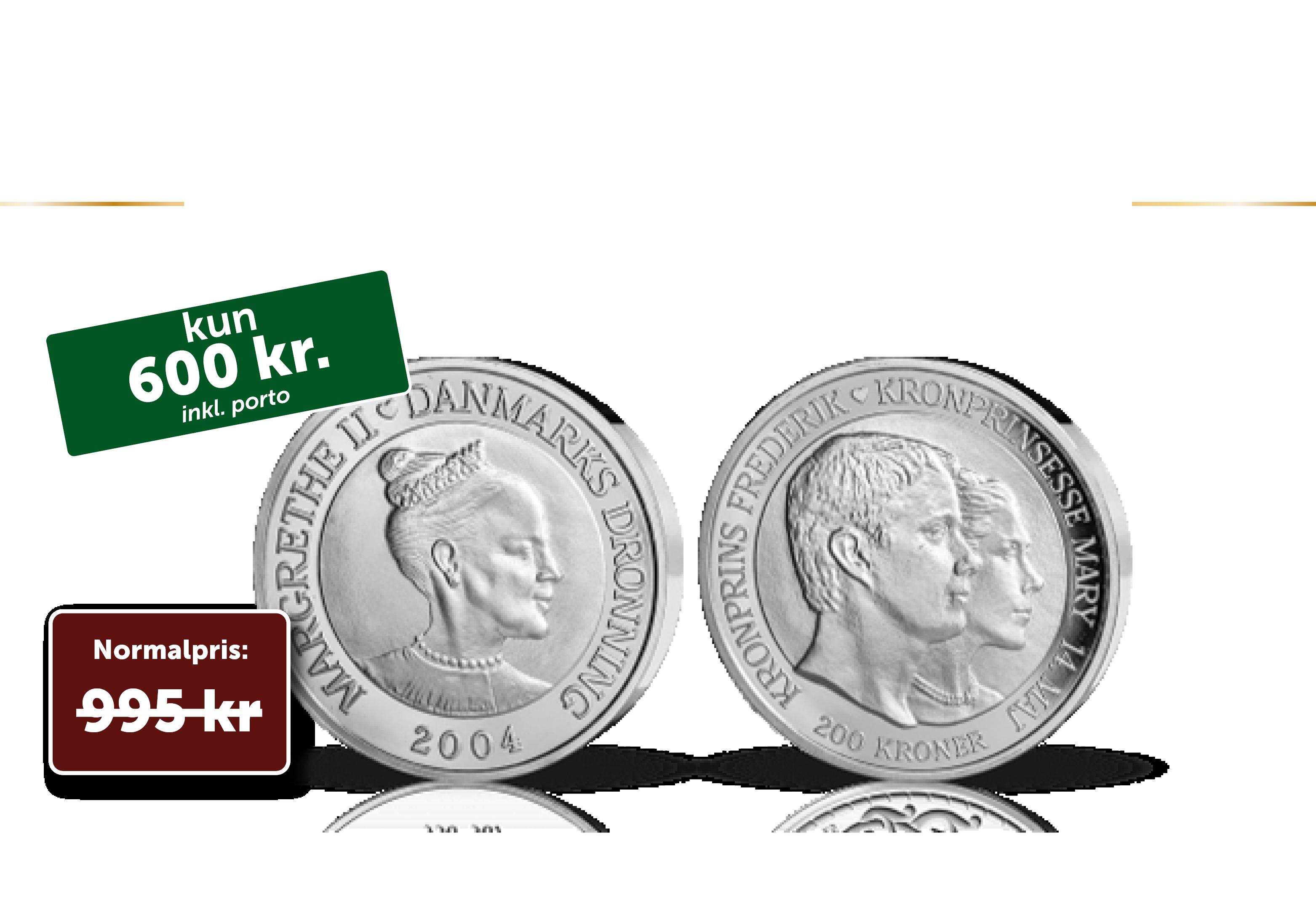 Kronprins Frederik og Marys bryllupsmønt 2004