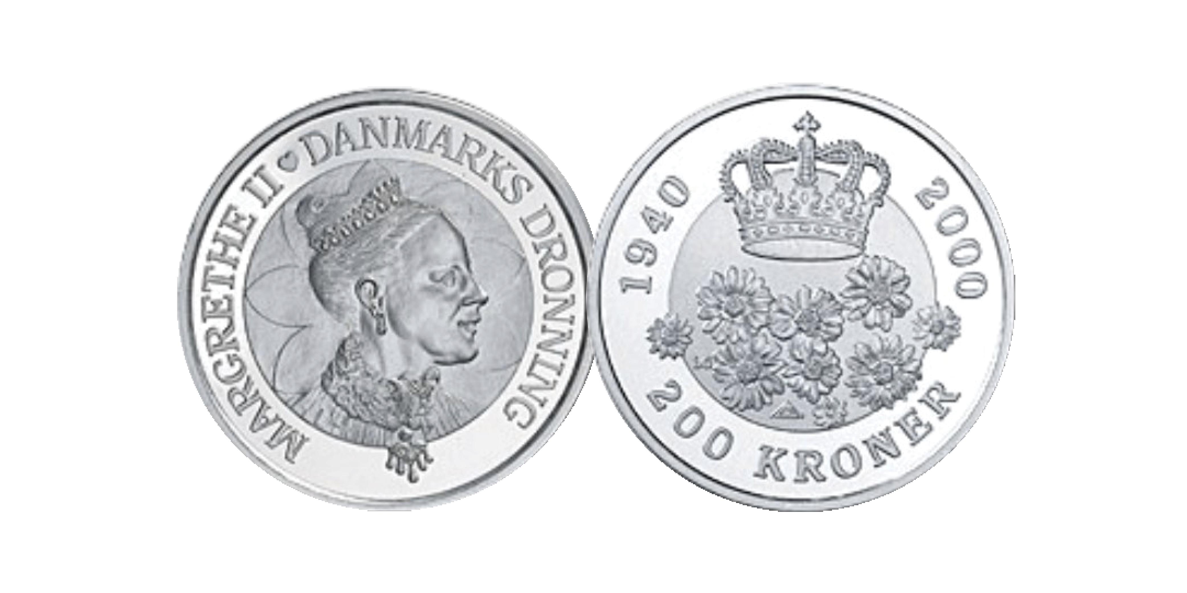 Denne officielle mønt med Hendes Majestæt er præget i 99,9% sølv, en diameter på 38 mm og en vægt på hele 31,10 gram. Mønten er præget i anledning af hendes 60 års fødselsdag