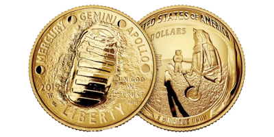 $5 gold Apollo 11 50-års jubilæum 2019