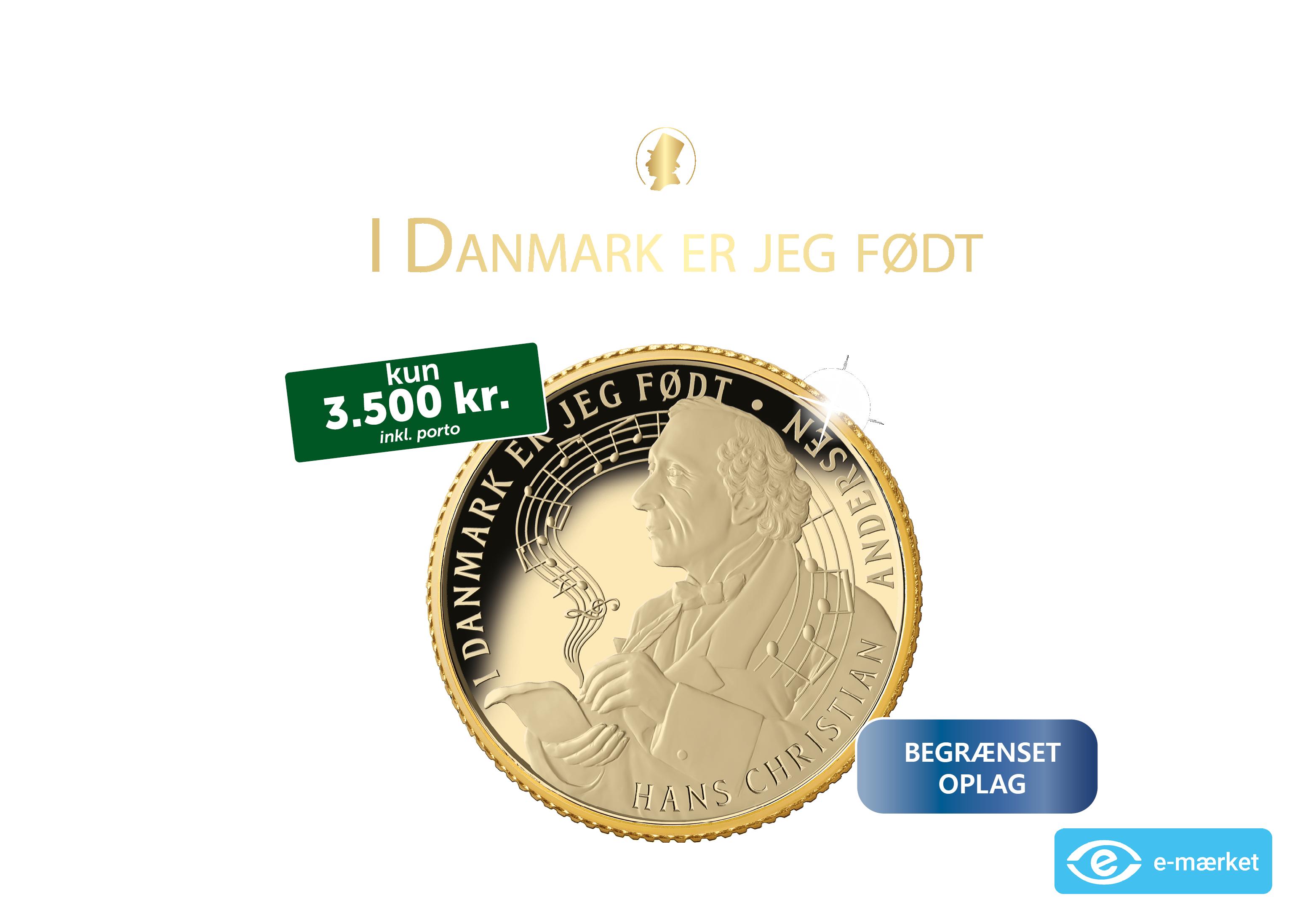 Første guldmønt med Danmarks uofficielle nationalmelodi