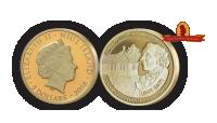 5 dollars i guld med HC Andersen og HC Andersens hus – Leveres i træskrin med ægthedscertifikat