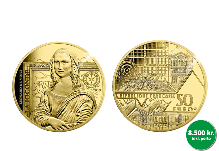 Mona Lisa guldmønt som en hyldest til Frankrigs smukkeste maleri