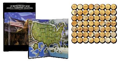 Guldbelagte amerikanske State Quarters
