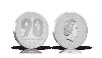 Officiel Disney-mønt som er præget for at fejre Mickey Mouse' 90 år