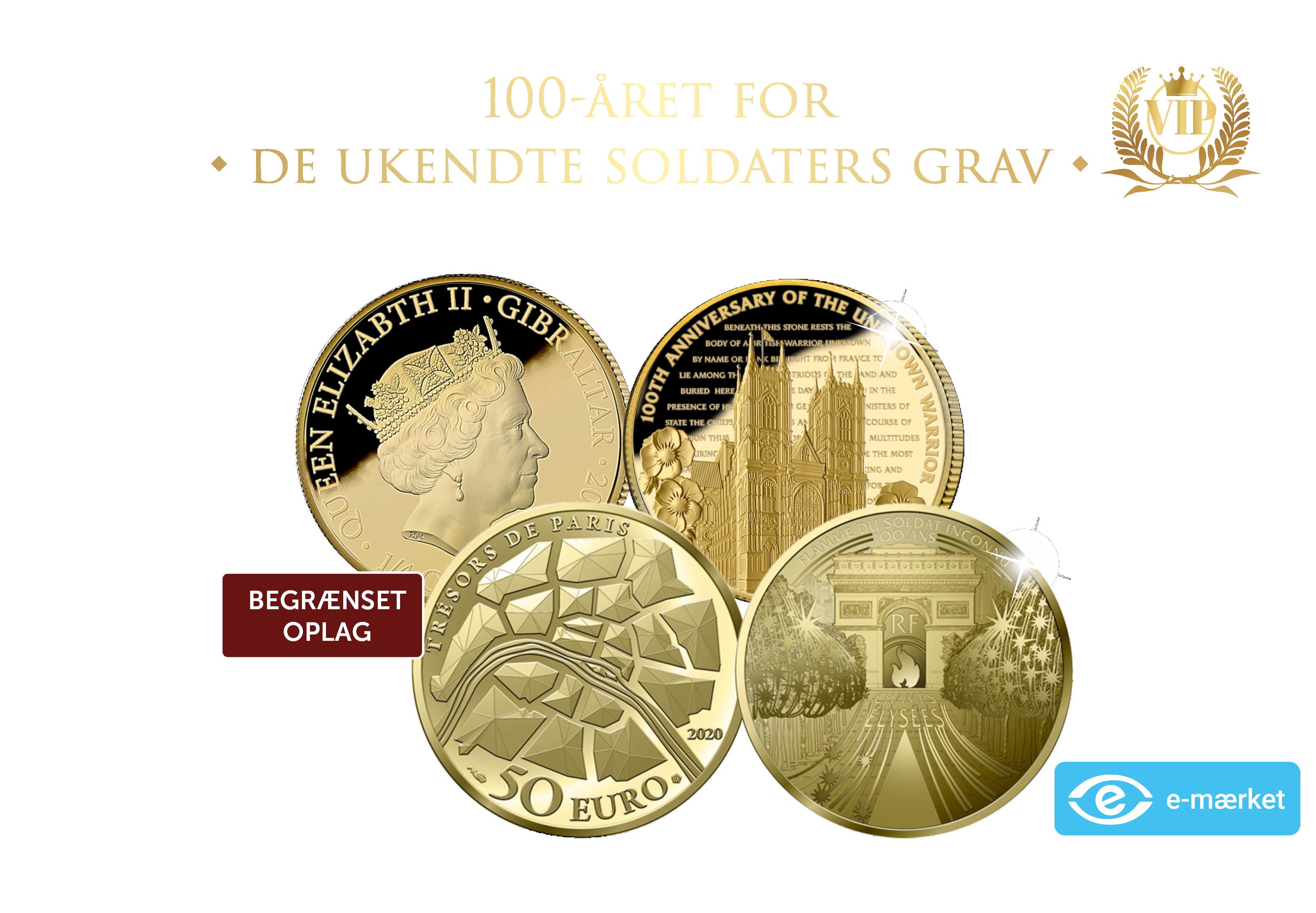 Møntsæt udgivet i forbindelse med 100-året for de ukendte soldaters grav.