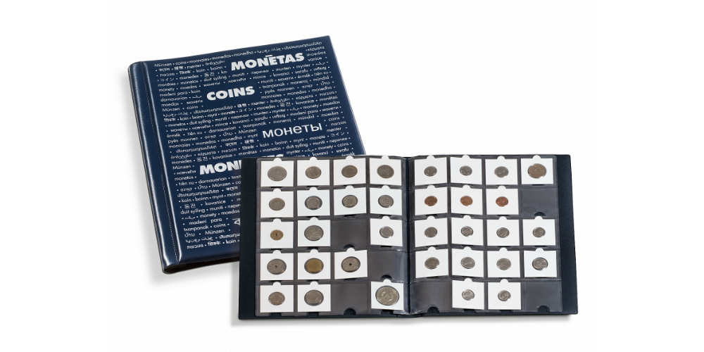Mønthuset Danmark tilbyder dette praktiske møntholderealbum
