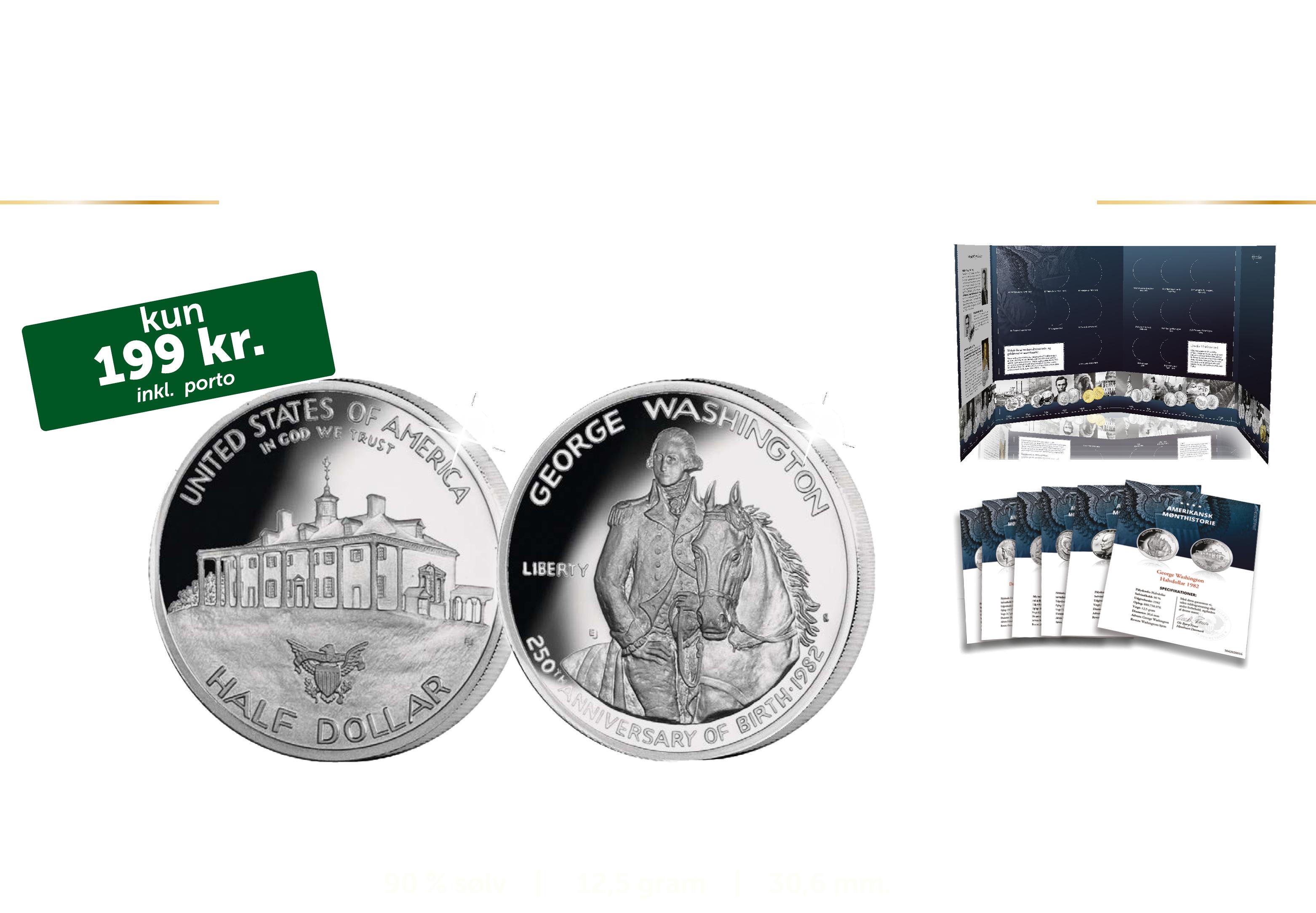 Amerikanske sølvdollars - Løbende samling. Ingen binding. Du kan til enhver tid opsige din samling