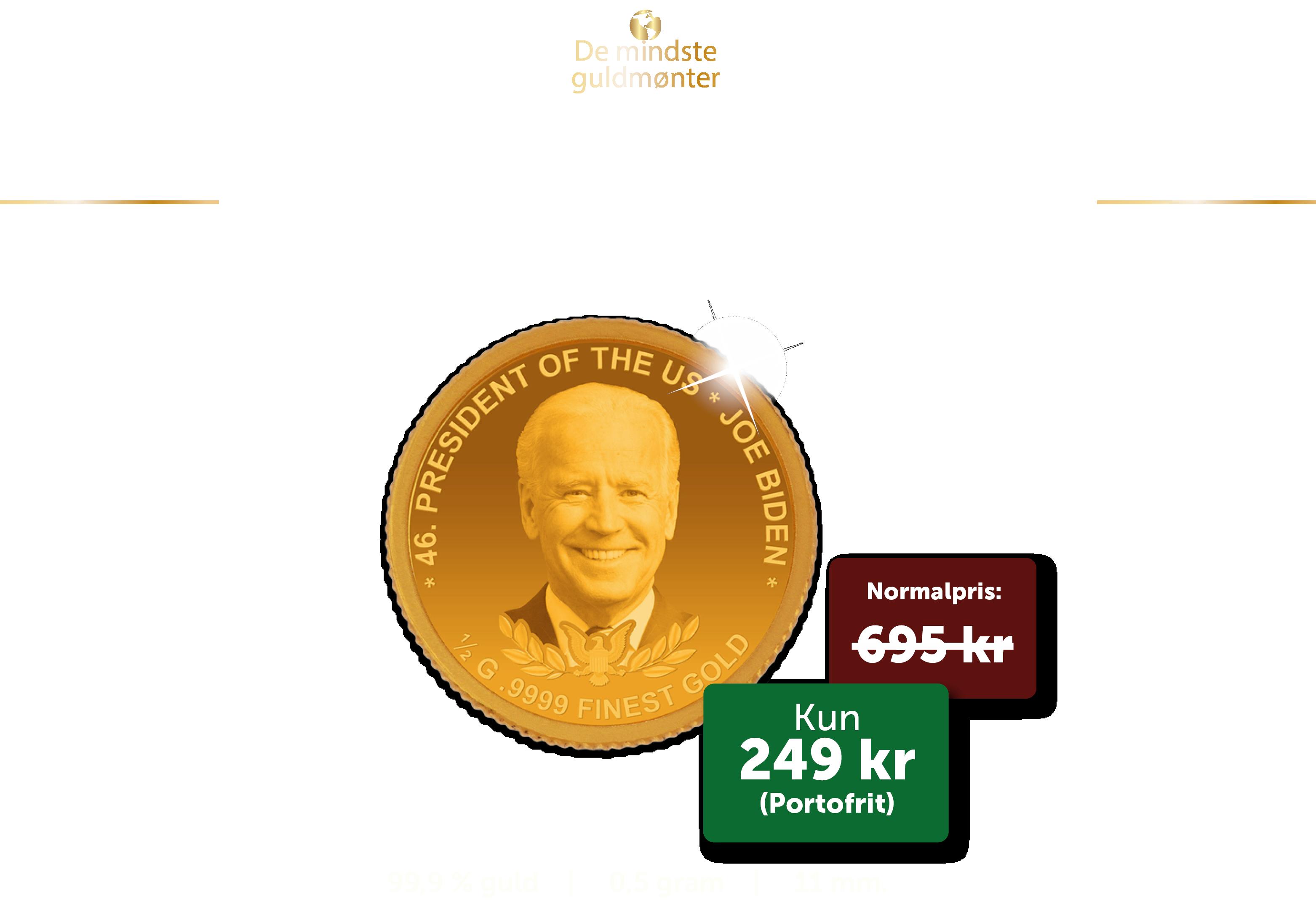 De mindste guldmønter:  USA's næste præsident - Joe Biden