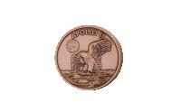 Nu fårdu mulighed for at fejre, 50 årsjubilæum for månelandingen i 1969ved at sikre dig denne flotte kobbermedalje.