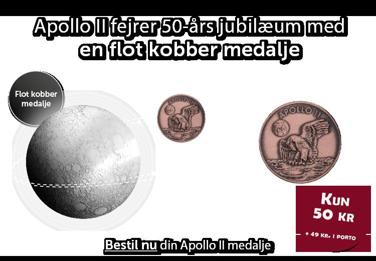 Apollo II fejrer 50-års jubilæum med en flot Robbins kobbermedalje!