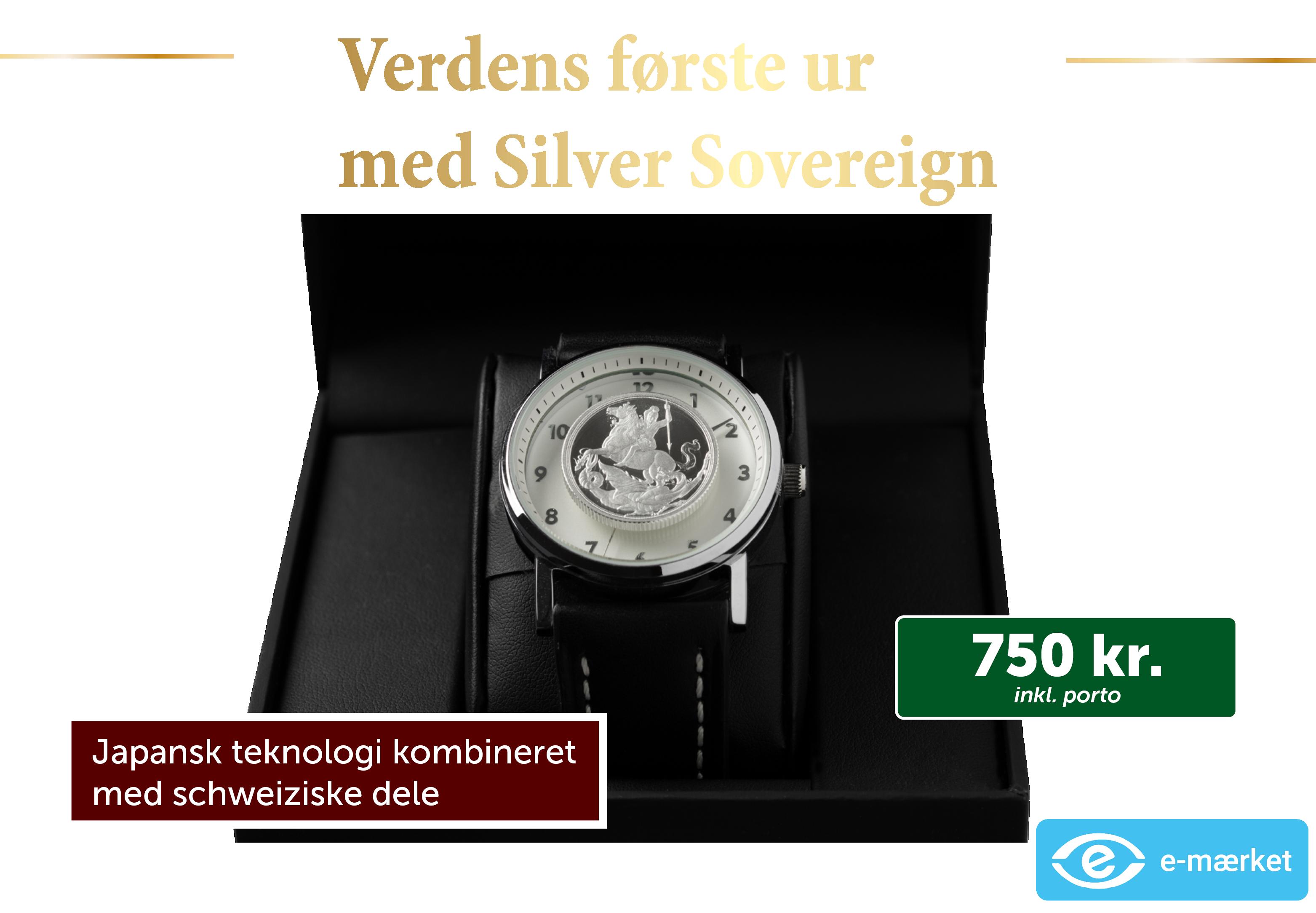 Verdens første armbåndsur med Silver Sovereign