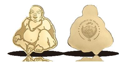 Flot Buddhamønt i guld