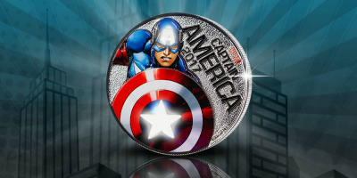 Captain America - Lightup Coin 2017