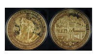 Christian IV Gigant Medalje - forgyldt med 24 karat rent guld