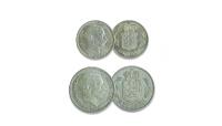 1-krone og 2-krone fra 1915-16 med vores helt egen Kong Christian X.