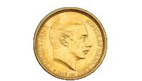 En original dansk guldmønt fra 1913.