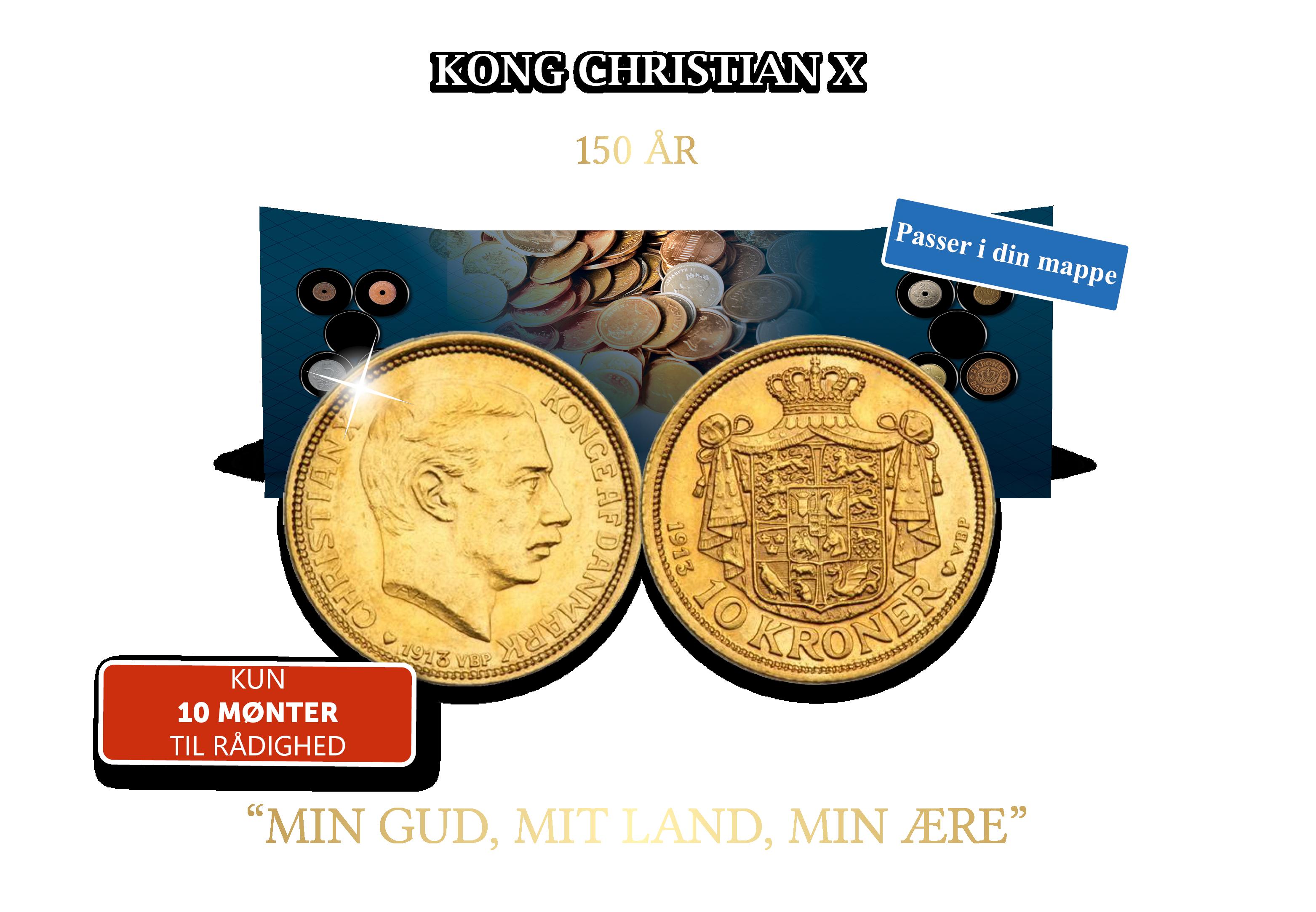 Den første 10-krone i guld med Kong Christian X.