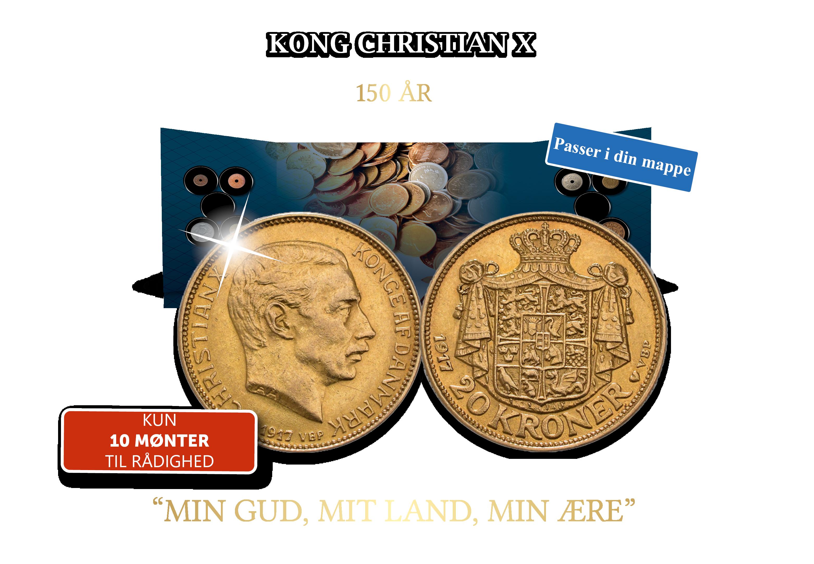 Den sidste 20-krone i guld med Kong Christian X fra 1917