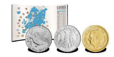 37 lande på det amerikanske kontinent – 1 mønt fra hvert land!