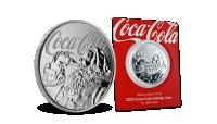 Officiel Coca-Cola sølvmønt med selveste julemanden!