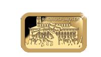 Danmarks Kulturskat med Rådhuspladsen i 5 gram rent guld