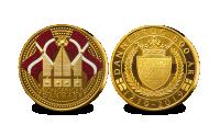 Dannebrog fylder 800 år - Forgyldt Jubilæumsmedalje