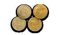 Møntsæt med 2 originale kurantdukater i ægte guld