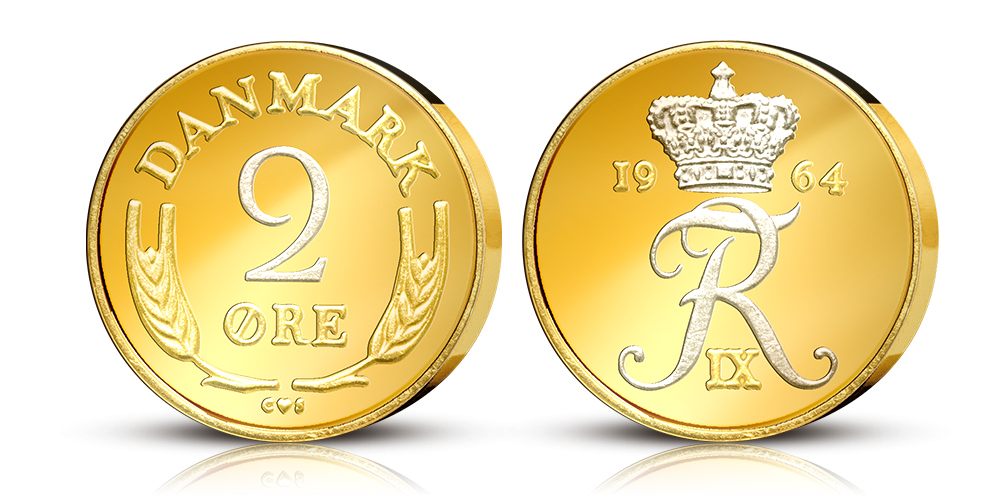 Original dansk øremønt