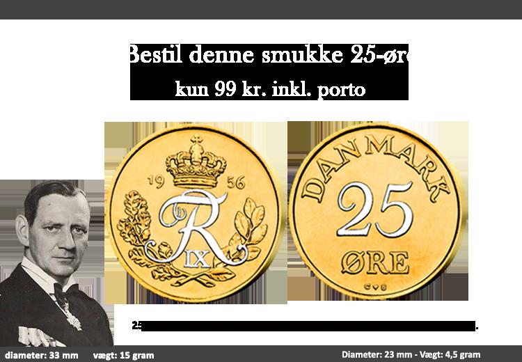 Original mønt forgyldt med 24 karat guld og platin.
