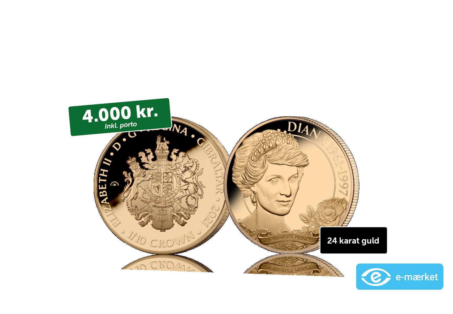 24 karat guldmønt - The English Rose 1/10 crown 2021