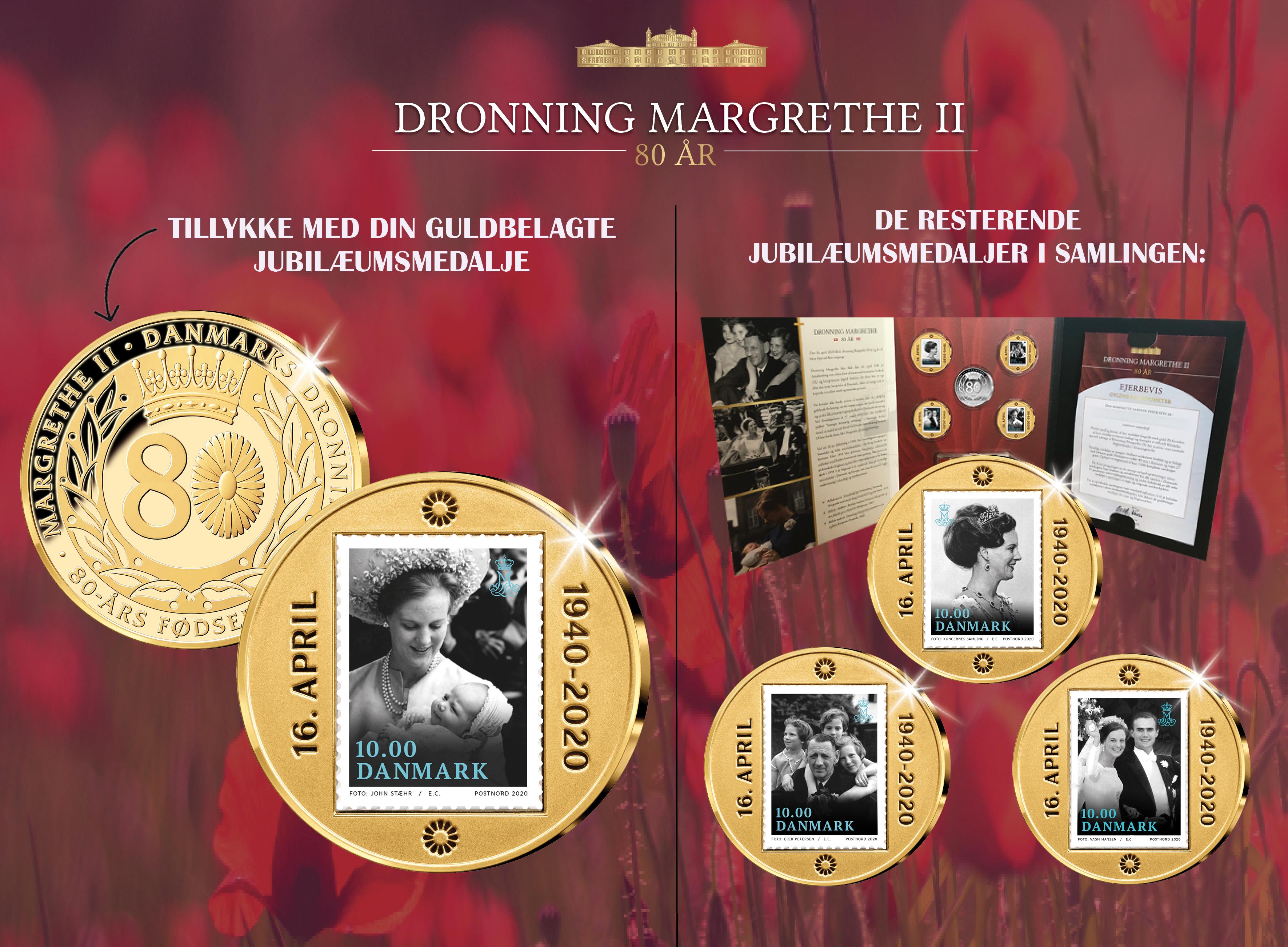 Dronning Margrethe 80 år - Gyldne højdepunkter 1940-2020