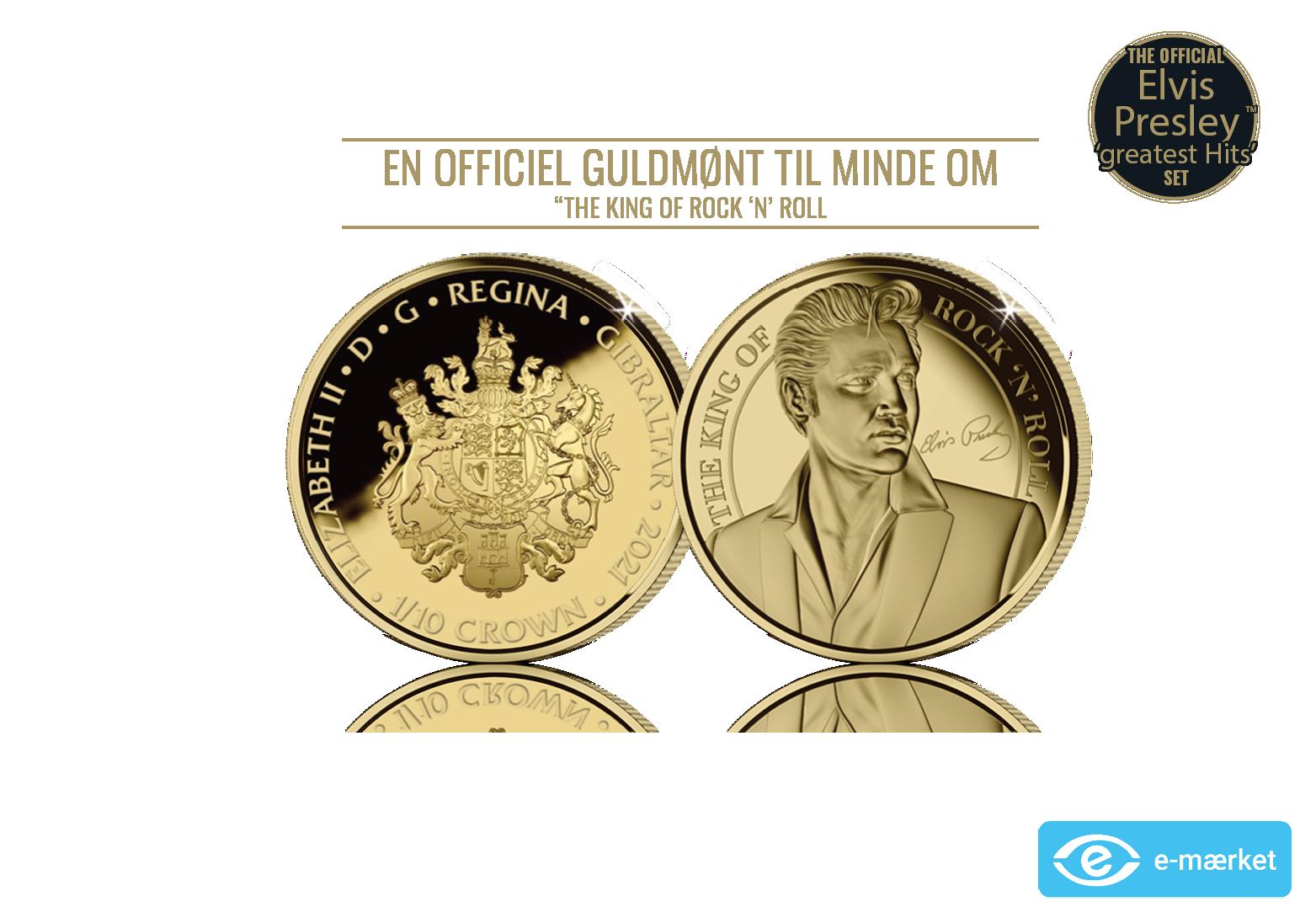 24 karat guldmønt - The King of Rock 'n' Roll eksklusiv 1/10 oz guldmønt