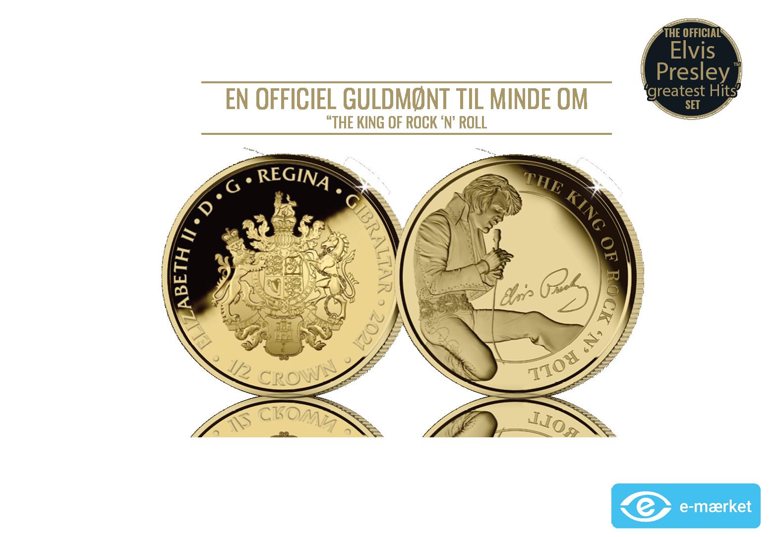 24 karat guldmønt - The King of Rock 'n' Roll eksklusiv 1/2 oz guldmønt
