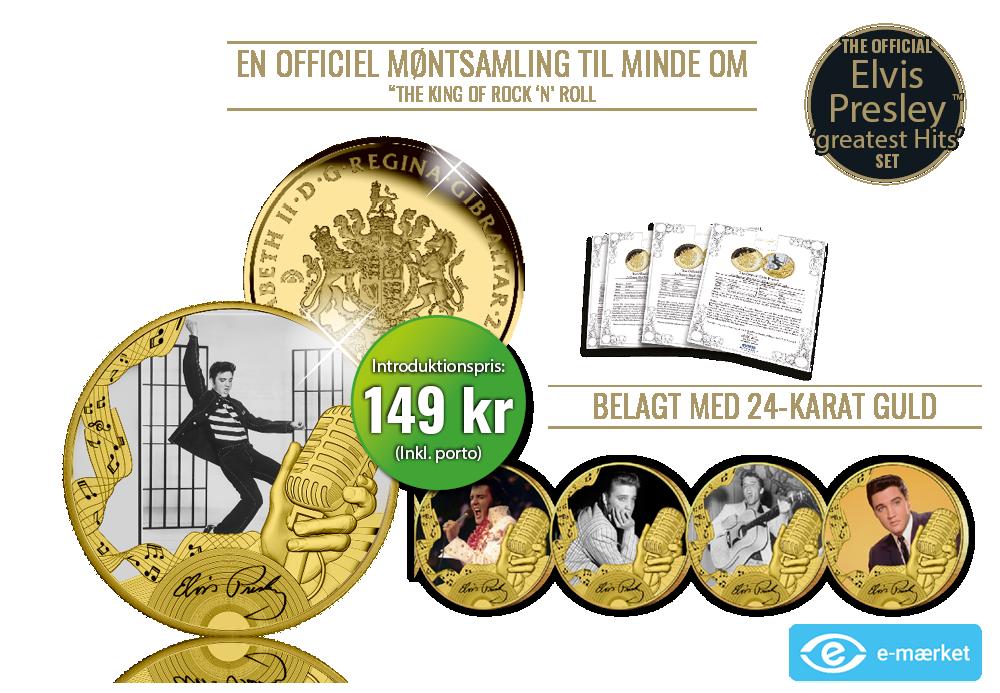 En officiel møntsamling til minde om The King of Rock 'n' Roll - Elvis Presley