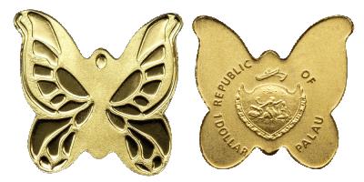 En sommerfugl i guld