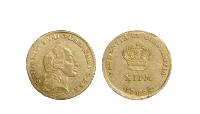 Frederik d. 5.'s kurantdukater er præget 1757 til 1765. - Køb denne historiske og originale Kurantdukat online til en god pris på 8.500 kr.
