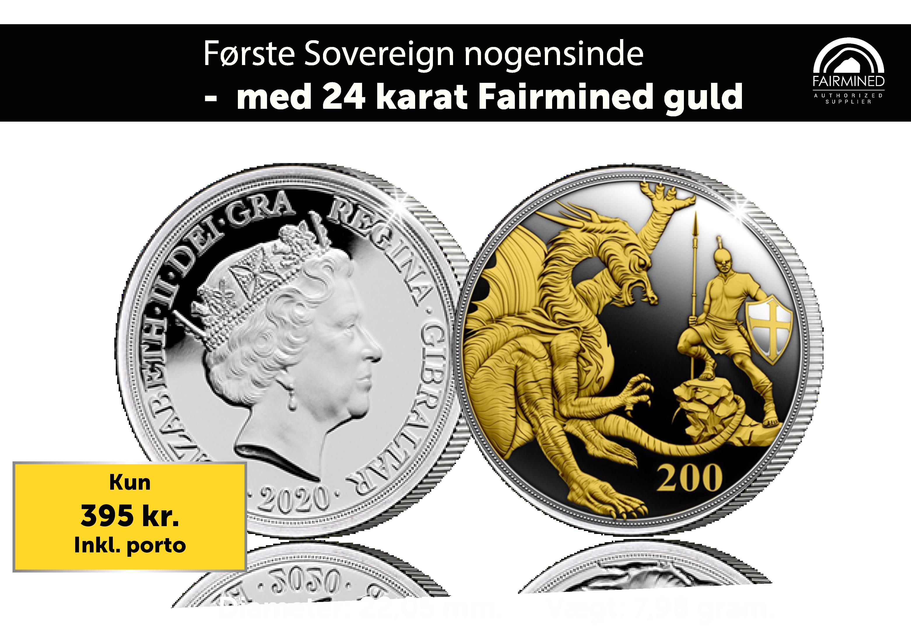 Den første Sovereign nogensinde, som er belagt med 24 karat Fairmined Guld.